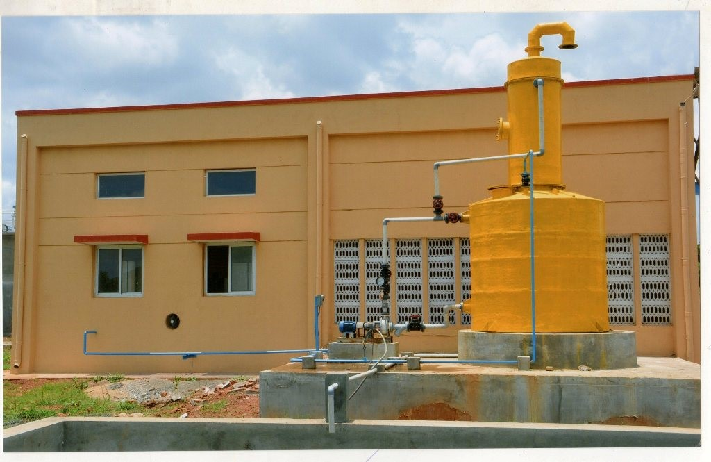 Project Name: STP, HUBLI - CHLORINATION BUIDING WITH EVAPORATION ABSORBTION SYSTEM